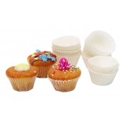 "Caissettes à petits fours en papier blanc cannelé 4 cm ""Sweetly Does It"", lot de 100"