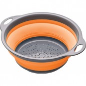 Passoire 2,8 L pliante à anses  24 cm orange KITCHEN CRAFT