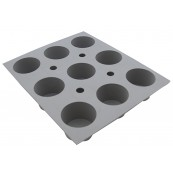 Moule  ELASTOMOULE 9 mini Muffins De Buyer